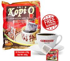 Coffee Mixture Bags Kopi O Aik Cheong 20 Sachets x 20g Sugar Added Coffee Aroma