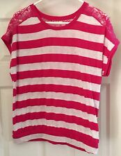 Pink and off-white short sleeve t-shirt size 14-16!!!