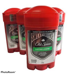 x4 lot Old Spice Lasting Legend Sweat Defense strong anti-perspirant deodorant