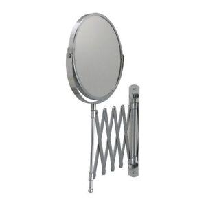 IKEA FRACK Stainless Steel Bathroom Makeup Shaving Retractable 2-Sided Mirror