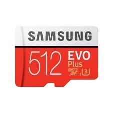 Memory card micro sd + adapter 512 gb memory card samsung evo plus