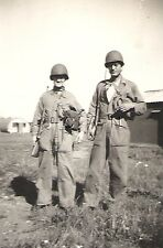 WWII Original Army RP- Soldier- M1 Helmet- M1 Carbine- Gasmask- Overalls- 1940s