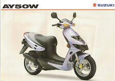 Suzuki AY50 GB Sales Brochure Katana AY50W AY50WX Katana 1999