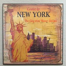 Vintage Retro NEW YORK Plaque Wall Decor French Country Cottage