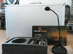 SOUNDSATION TG100 DESKTOP MICROPHONE,MICROFONO DA TAVOLO A CONDENSATORE,NUOVO