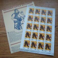 Zaire Sc 1005 Mint Sheet / 20 + Promotional Sheet Norman Rockwell / Music 50K