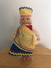 Rare Vintage Plastic Doll Made in Ussr Kykna Blond Girl Hair Blue Eyes