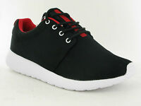 BRAND NEW MENS FLAT LACE UP CAUSAL CANVAS TRAINER SHOES UK SIZES 7 8 9 10 11 12
