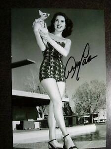 ABBE LANE Authentic Hand Signed Autograph 4X6 Photo - - SEXY ACTRESS & SINGER