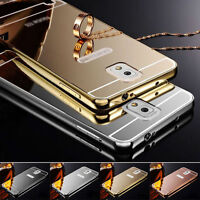 2015 New Luxury Aluminum Ultra-thin Mirror Metal Case Cover for Samsung HTC Sony