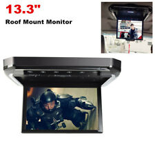"""13.3"""" Screen Hd Car Roof Mount Flip Down Mp5 Monitor Overhead Video Fm Player"""