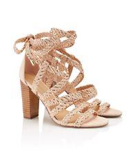 NEW SPORTSGIRL Paige Woven Strappy Heel Sandal Size 7 Box