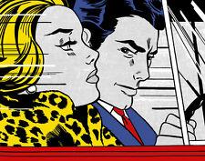 Lichtenstein Roy In The Car  Canvas 16 x 20  #4750