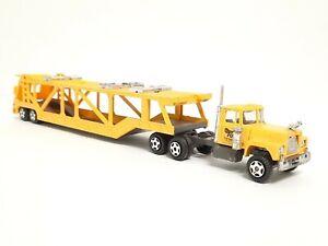 Vintage Ertl MACK Semi Cab Toi Auto Transport Tractor Trailer Car Transporter HK