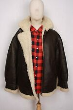 Great B-3 B3 Brown Shearling Air Force Bomber Pilot Flight Leather Jacket M