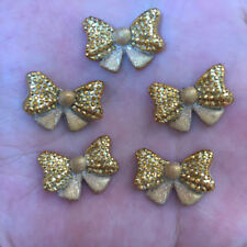 New 12pcs cute resin 21mm gold powped Star flower Flatback stone child scrapbook