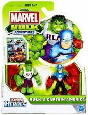 Marvel Playskool Heroes Hulk Adventures Hulk & Captain America Action Figure Set