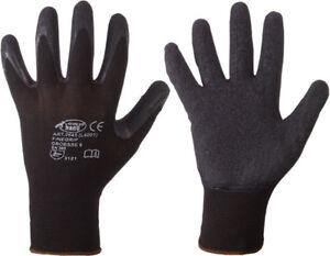 Schwarze Montagehandschuhe FINEGRIP Stronghand Arbeitshandschuh Größe 6 bis 12 !