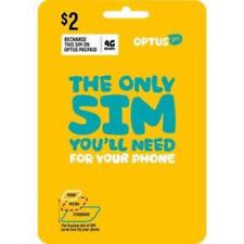 Optus Prepaid SIM Mobile Data Broadband Nano Micro 3G 4G Call Text Internet