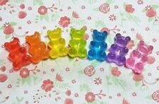 7 x Gummy Bear Sweet Flatback Resin Embellishment Crafts Decoden Cabochon UK