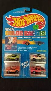 1988 Hot Wheels Micro Color Racers #3227 Street Pack - New In Package