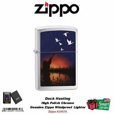 Zippo Duck Hunting Lighter, High Polish Chrome, Windproof  #29076