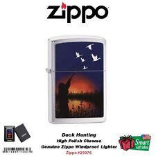 Zippo Duck Hunting Lighter, High Polish Chrome, Windproof  #29076