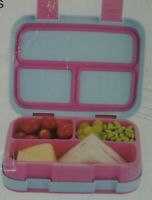 Kids Bento Leakproof Lunch Box - Pink and Blue NIB