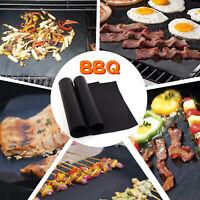 3/5 Pcs BBQ Grill Mat Non-Stick Bake Grilling Mats Barbecue Pad Teflon Fiber