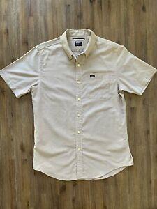 RVCA Size S Short Sleeve Button Shirt in Copper Colour Men's