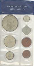 Netherlands Antilles 1944-1967 Uncirculated Set 7 pcs w/bonus Curacao 2.5 G 1944