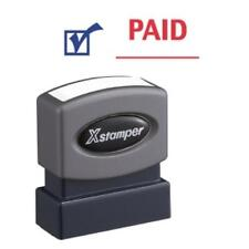 "Xstamper Pre-inked Stamp - Message/date Stamp - ""paid"" - 0.50"" Impression Width"