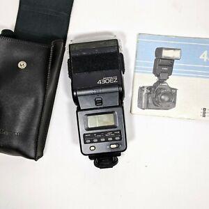 Canon Speedlite 430EZ Shoe Mount Flash Light Camera Accessory with Case & Manual