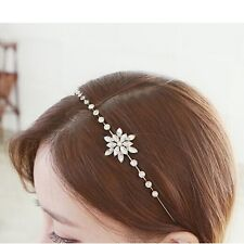 Superb Snowflake Wedding Prom Crystal Bridal Bridesmaid SIDE Tiara Headband
