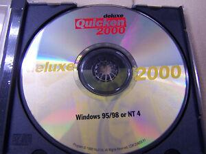 Quicken deluxe 2000 windows 95/98 or NT 4 cd software disc