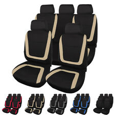 Universal Fit Breathable Car 5 Seat Covers Full Set Front Rear Cushion Protector (Fits: Seat)