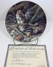 Our Woodland Friends Beneath the Pines Bradford Exchange Plate #2