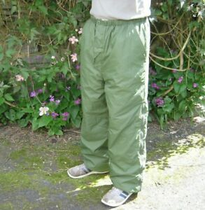British Army Thermal Trousers Reversible Over Olive Green Sand Military Surplus