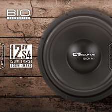 CT Sounds Bio 1.0 300w MAX - 150 watt RMS 12 Inch S4 Ohm Car Audio Subwoofer Sub