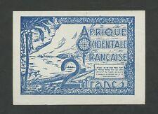 FRENCH WEST AFRICA - 2 francs  1940s  P35  EF-AU  ( World Paper Money )