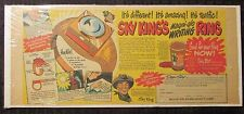 "1940s Peter Pan SKY KING Magni-Glo Writing Ring Newspaper Ad VG+ 4.5 15.5x6.5"""