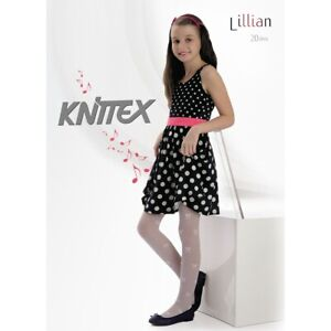 Patterned White Girls Tights Formal Party Communion Bridesmaids