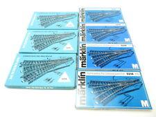 (SH348) Märklin 7x 5214 AC H0 7 x elektr. Dreiwegweichen M-Gleis OVP