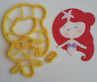 Ariel The Little Mermaid Cookie Cutter 3DPrinted High Quality Cake Decoration