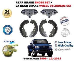 FOR FORD RANGER 2.5TD 3.0TD 1999-2012 REAR BRAKE SHOES SET + 2X WHEEL CYLINDERS