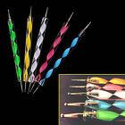 5Pcs 2 way Dotting Pen Marbleizing Tool Nail Art Paint Shop Quality Accessory UK