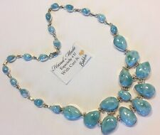 Amazing huge  handcrafted AAA Larimar  Necklace 925 silver  #  D
