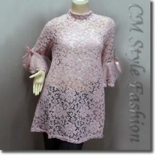 Regular Size Cotton Blend Floral Tunic Tops & Blouses for Women