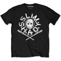 Eminem T Shirt Slim Shady Hockey Mask Official Black Mens Marshall Mathers NEW