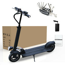 Electric Kick Scooter Black Safe Exquisite Reliable Suspension Folding E-Scooter